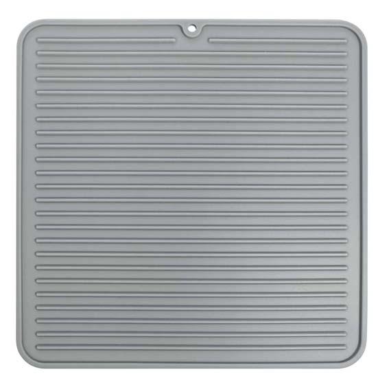 Interdesign 63683 Lineo Medium Gray Silicone Drying Mat