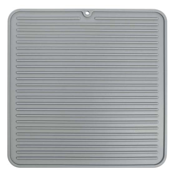 Interdesign 63683 Lineo Medium Gray Silicone Drying Mat