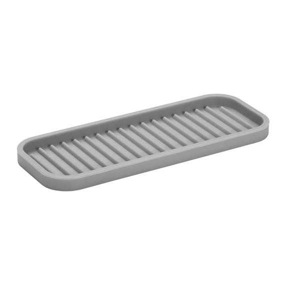 Interdesign 63883 Lineo Large Gray Silicone Sink & Vanity Tray