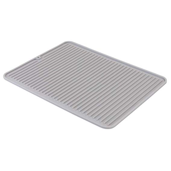 Interdesign 63783 Lineo Large Gray Silicone Drying Mat