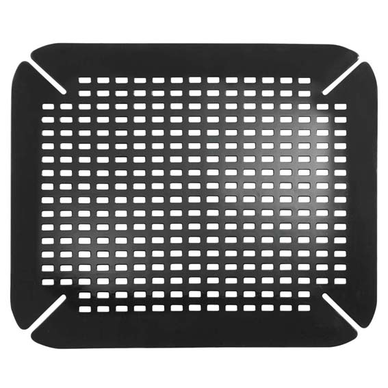 Interdesign 59067 Sinkworks Contour Sink Saver Mat, Black