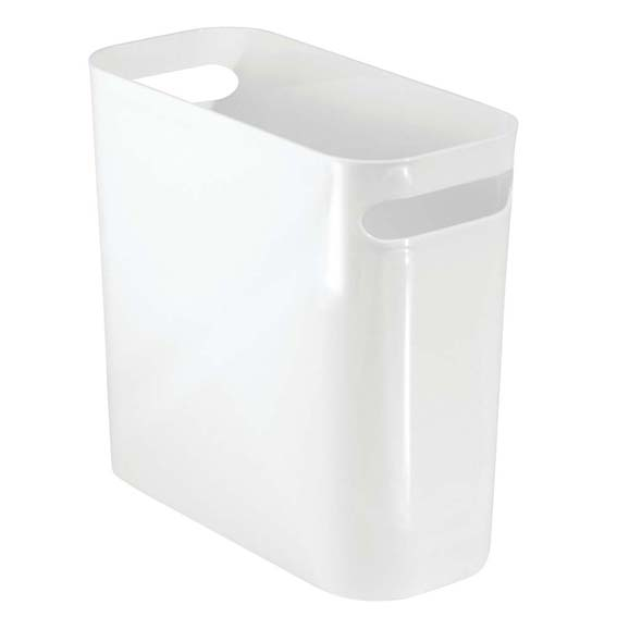 Interdesign 93071 White Una 10 Waste Can