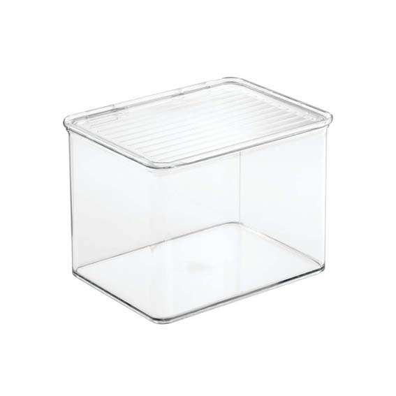 Interdesign 67230 Kitchen Binz Stackable Storage Organizer Bin With Lid - 2.2 Qt.