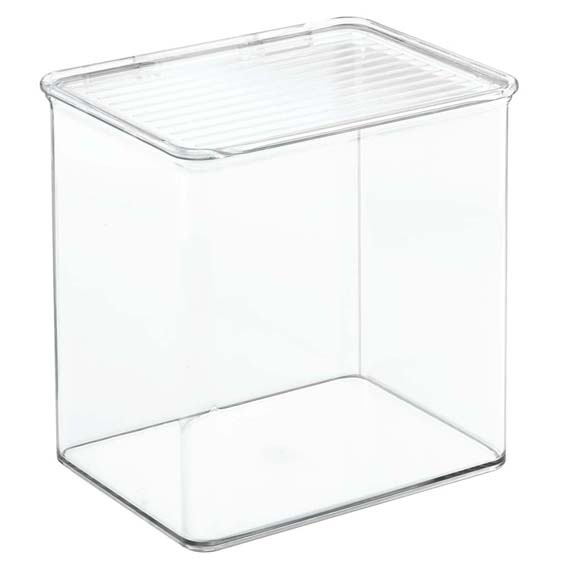 Interdesign 67330 Binz Tall Storage Organizer & Lid, 3 1 Quart