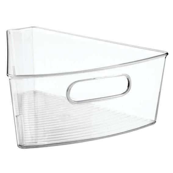 Interdesign 62730 Binz Lazy Susan Cabinet Wedge Bin, 1/8