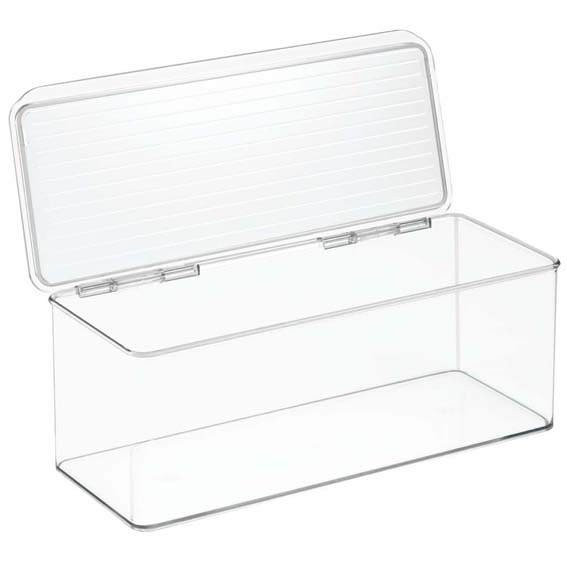 Interdesign Kitchen Binz Stackable Storage Organizer Bin w/Lid, 4.7 Quart