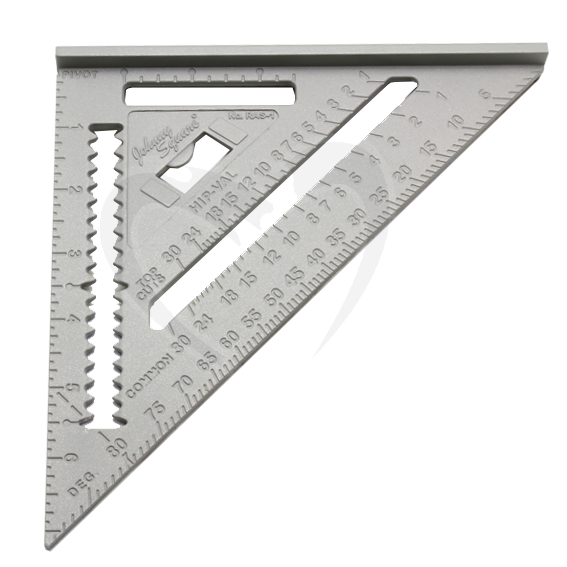 JOHNSON RAS-1B 7 JOHNNY SQUARE PROFESSIONAL ALUMINUM RAFTER SQUARE