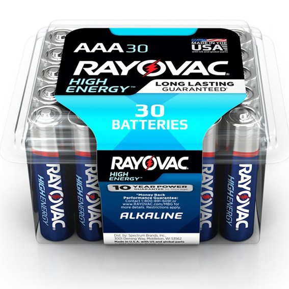 Rayovac Pro Pack AAA High Energy Alkaline Batteries - 30 Pk.