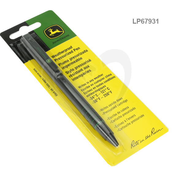 JOHN DEERE #LP67931 RITE IN THE RAIN ALL-WEATHER BLACK PENS JD93K - 2 PK.