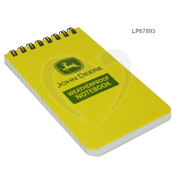 JOHN DEERE #LP67893 RITE IN THE RAIN 3X5 ALL-WEATHER TOP-SPIRAL NOTEBOOK JD 35