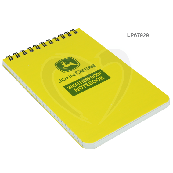 JOHN DEERE #LP67929 RITE IN THE RAIN 4X6 ALL-WEATHER TOP-SPIRAL NOTEBOOK JD46