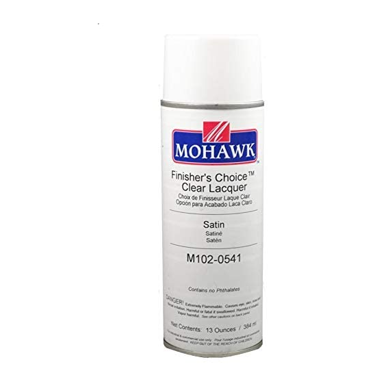 Mohawk M102-0541 Finisher's Choice Clear Satin Lacquer, 13 ounce