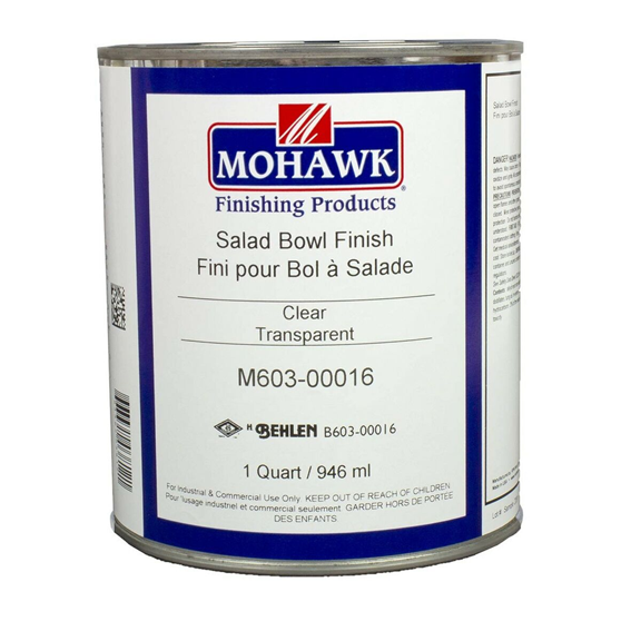 Mohawk M603-00016 Salad Bowl Finish, Quart