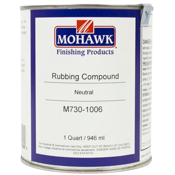 Mohawk M730-1006 Liquid Rubbing Compound Level I Low Sheen Neutral, Quart