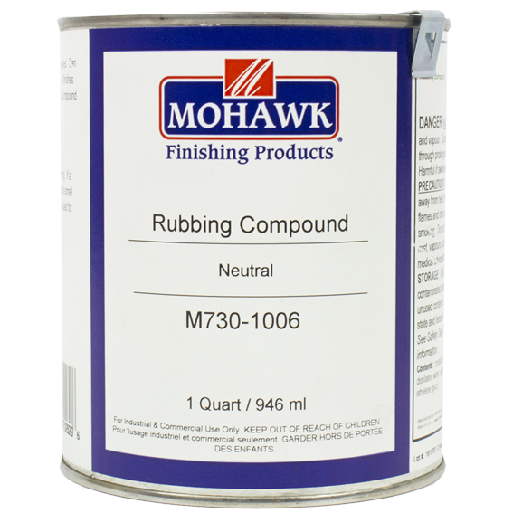 Mohawk M730-1006 Liquid Rubbing Compound Level I Low Sheen Neutral, Quart