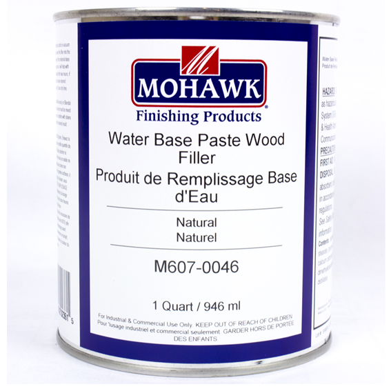 Mohawk M607-0046 Water Base Paste Wood Filler Natural, Quart