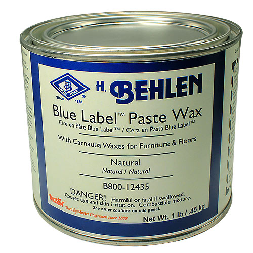 BEHLEN BLUE LABEL PASTE WAX - 1 LB  NATURAL
