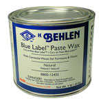 BEHLEN BLUE LABEL PASTE WAX - 1 LB. NATURAL
