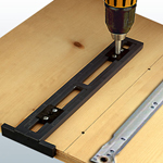 Euro Easy Guide Drawer Slide Drilling Jig