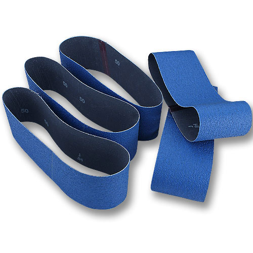 Norton ProSand BlueFire Sanding Belts - 3 Inch X 21 Inch X 80 Grit - 5 Pk