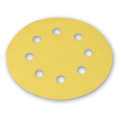 MIRKA 5 INCH BULLDOG GOLD DISC 8 HOLE 50 PC  SAMPLE PACK