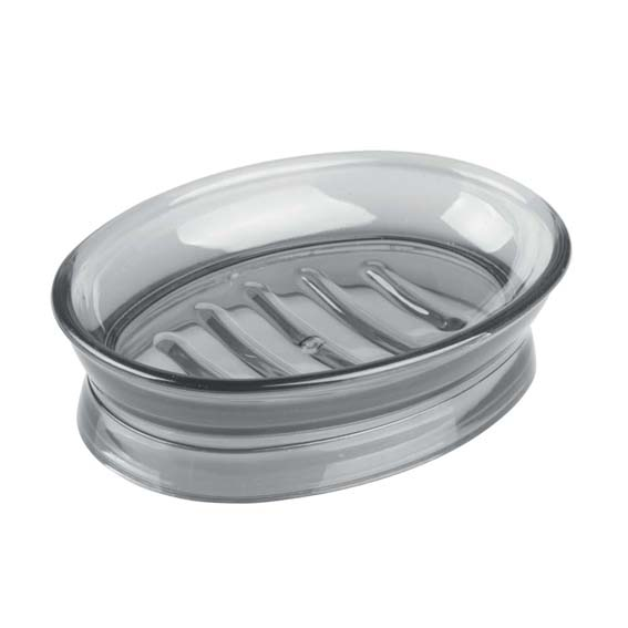 INTERDESIGN 45142 FRANKLIN SOAP DISH - SMOKE