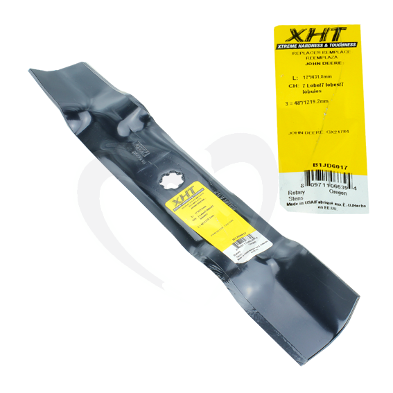 SUNBELT B1JD6017 17 XHT HEAVY DUTY JOHN DEERE LA SERIES MOWER BLADES - 48 DECKS - SET OF 3