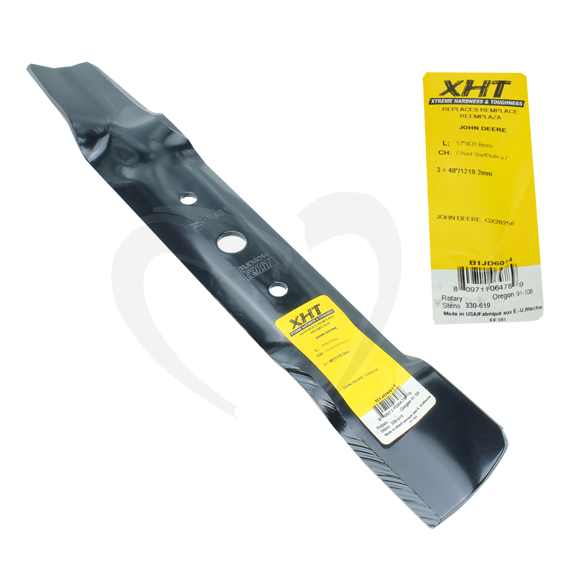 SUNBELT B1JD6014 17 XHT HEAVY DUTY JOHN DEERE L100 SERIES, SCOTTS, SABRE MOWER BLADE - 48 DECKS