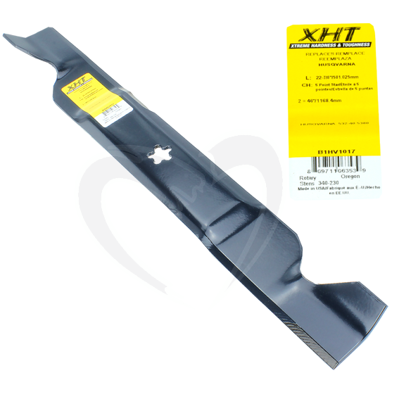 Sunbelt B1HV1017 22-7/8-Inch XHT Lawn Mower Blades fit 46-Inch Decks, Set of 6
