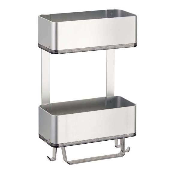 Interdesign 21416 Affixx Metro Ultra 2 Tier Shower Basket