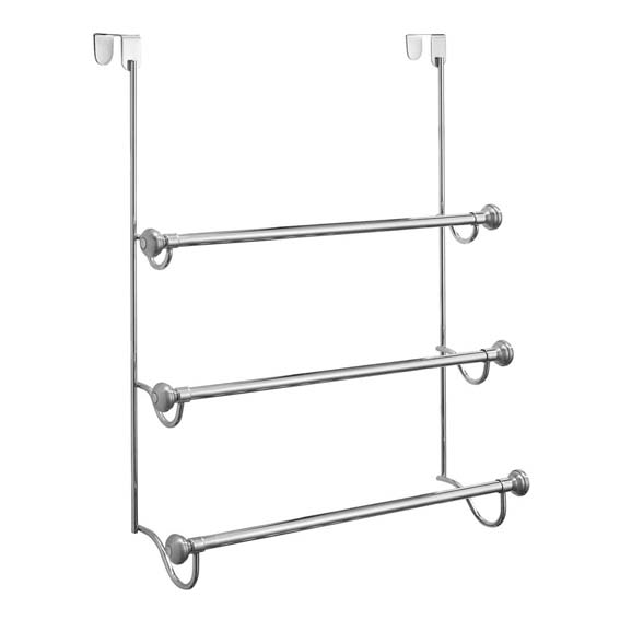 Interdesign 79150 York Over Door Towel Rack, Chrome