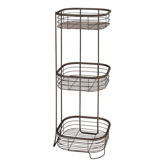 INTERDESIGN 28661 FORMA 3 TIER SQUARE SHOWER SHELF - BRONZE
