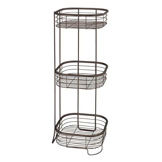 Interdesign 28661 Forma 3 Tier Square Shower Shelf - Bronze