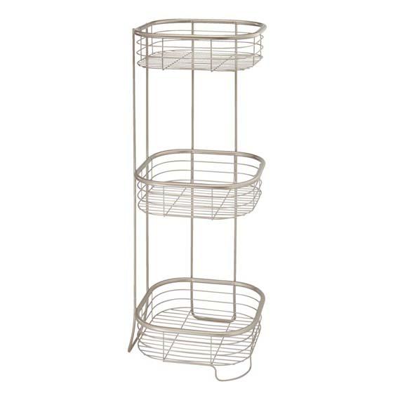 Interdesign 28665 Forma 3 Tier Square Shower Shelf, Chrome