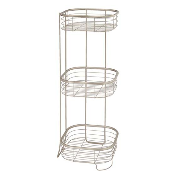 Interdesign 28665 Forma 3 Tier Square Shower Shelf, Chrome