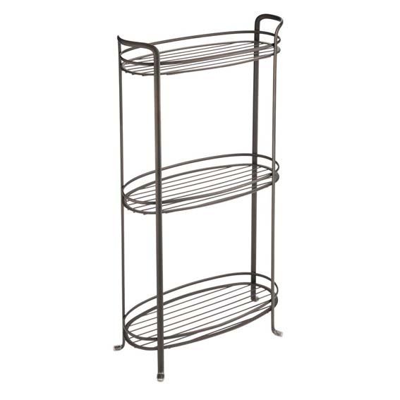 Interdesign 55693 Axis 3 Tier Oval Shower Shelf - Bronze