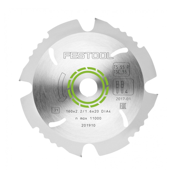 FESTOOL 202958 DIAMOND SAW BLADE - 160 X 2.2 X 20 DIA4