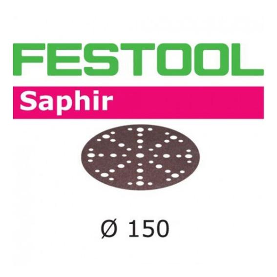 Festool 575196 150mm Saphir P50 MJ2 Disc Abrasives, 25 ct