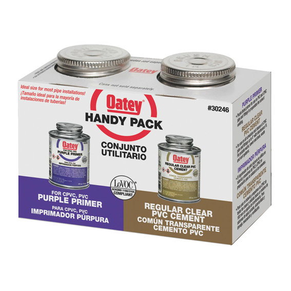 Oatey 30246 PVC Regular & NSF Purple Primer Handy Pack - 4 oz.