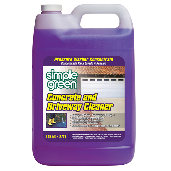 SIMPLE GREEN 2310000418202 CONRCETE AND DRIVEWAY CLEANER PRESSURE WASHER CONCENTRATE - 1 GALLON