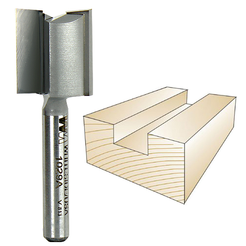 Whiteside 1029A Straight Plywood Bit - 1/4 Inch SH x 23/32 Inch CD x 3/4 Inch CL