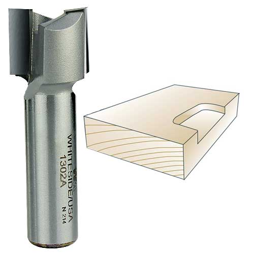 Whiteside 1302A Straight Mortising Router Bit, 1/2-Inch Shank x 3/4-Inch CD x 5/8-Inch CL