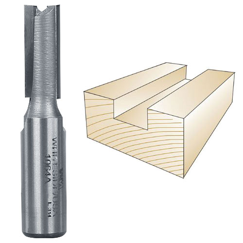Whiteside 1064A Straight Porter-Cable Dovetail Jig Bit - 1/2 Inch SH x 13/32 Inch CD x 1 Inch CL