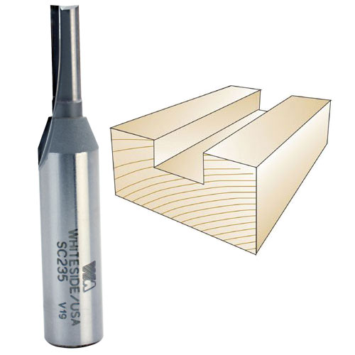 Whiteside SC235 Straight Plywood Bit, 1/2 Inch SH X 15/64 Inch CD X 3/4 Inch CL