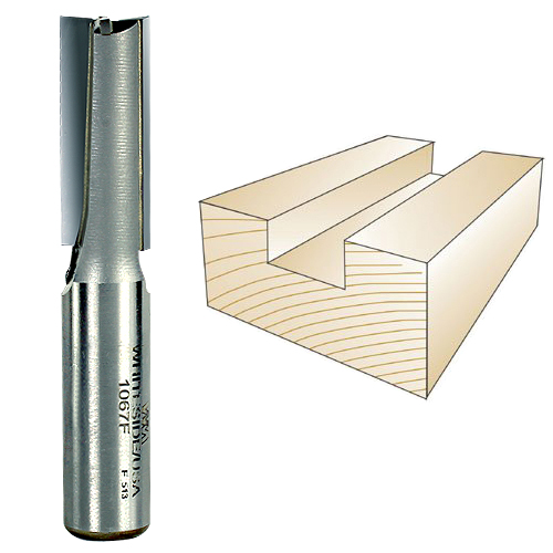 Whiteside 1067F Straight Router Bit, 1/2-Inch Shank x 1/2-Inch CD x 1-1/4-Inch CL