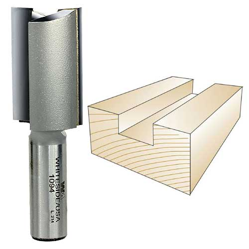 Whiteside 1094 Straight Router Bit,  1/2-Inch Shank x 1-Inch CD x 1-1/2-Inch CL