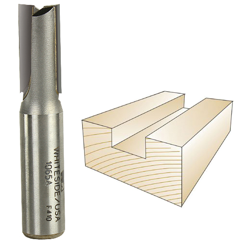 Whiteside 1065A Straight Plywood Bit - 1/2 Inch SH x 31/64 Inch CD x 1 Inch CL