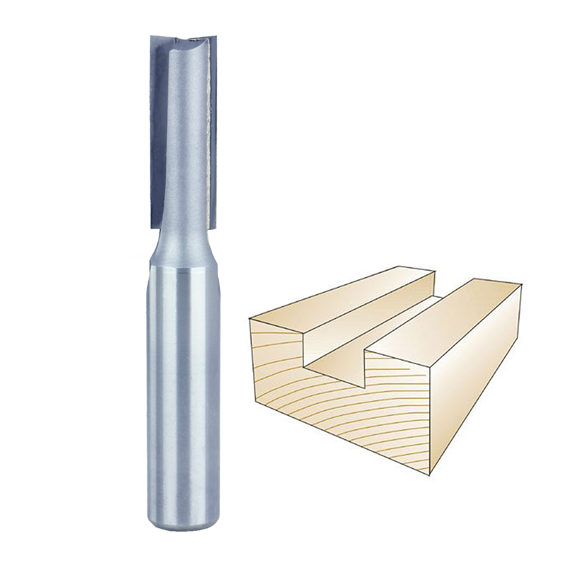 Whiteside 1065L Straight Router Bit, 1/2-Inch Shank x 7/16-Inch CD x 1-1/4-Inch CL
