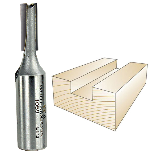 Whiteside 1059 Straight Router Bit, 1/2-Inch Shank x 9/32-Inch CD x 3/4-Inch CL