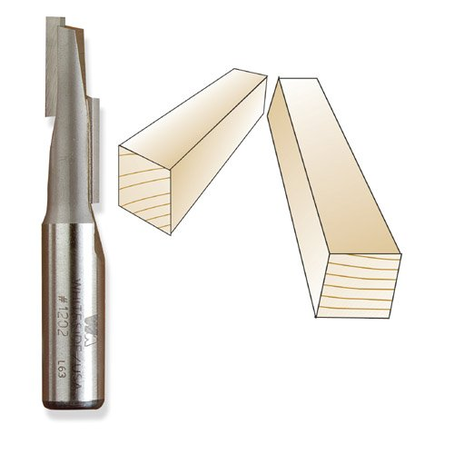 Whiteside 1202 Stagger Tooth Straight Flute Router Bit, 1/2-Inch Shank x 1/2-Inch CD x 1-1/2-Inch CL